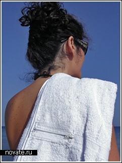Полотенце с кармашком для походов на пляж