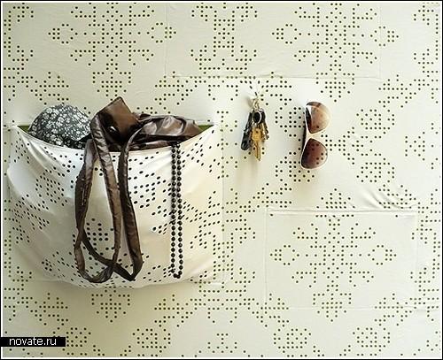 Стена с «карманами» для девушек, не терпящих беспорядок