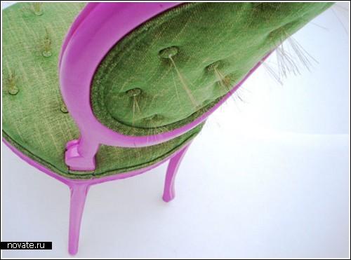 Колючие розовые кактусы-кресла