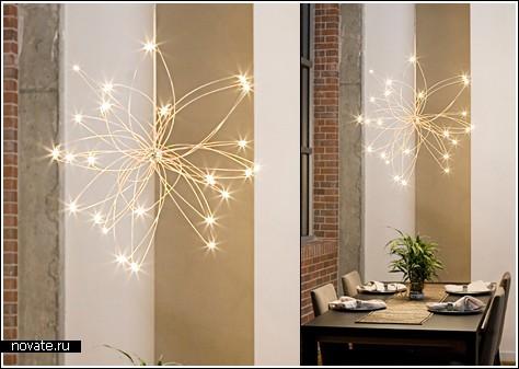 Светильник из «светлячков» от Christopher Moulder