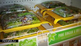 Салатик на дорожку в многоразовой тарелке
