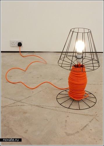«Лампа-катушка» от Guy Brown