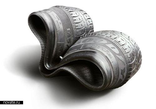 Стулья из старых шин