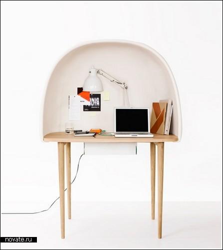 Компьютерный стол-«пещера» для спокойной работы