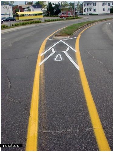 «Пешеходный» арт от художника Roadsworth