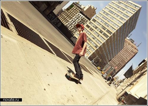 «Кривой» город от фотографа Romain Laurent