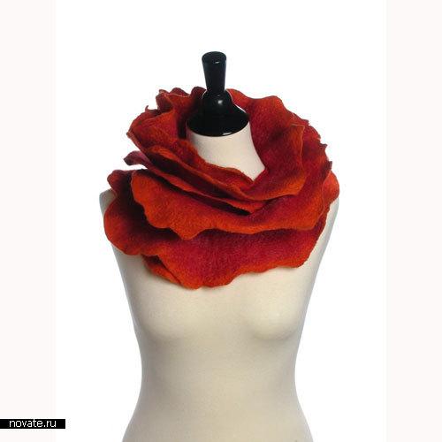 «Розовый» шарф