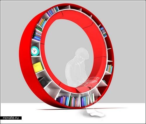 Диван-кольцо, а еще книжная полка
