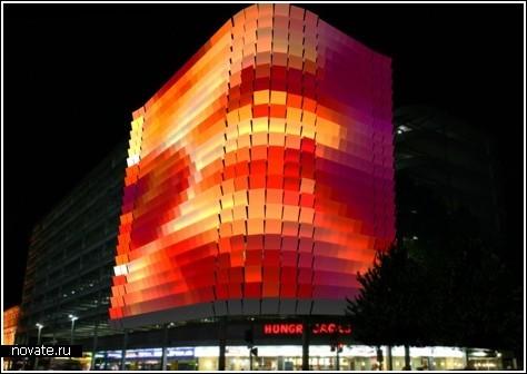 Светящаяся автостоянка в Австралии