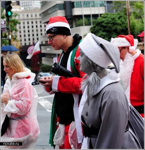 Новогодний СантаКон в Сан-Франциско – как выделиться из толпы