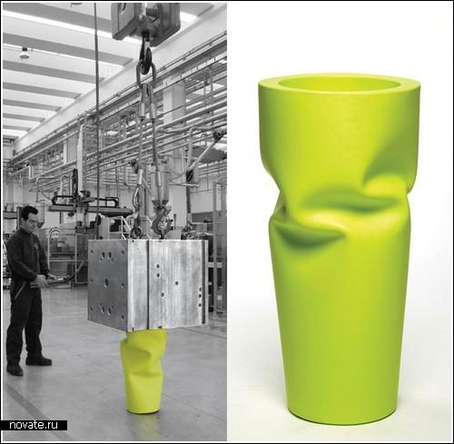 «Смятая» ваза от дизайнера Joe Velluto