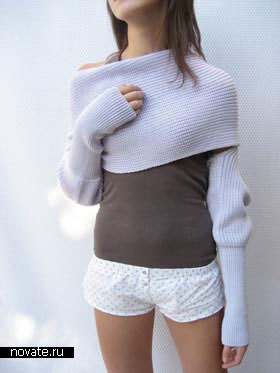 шарф из свитера<br />