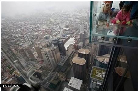 Стеклянный балкон на 103-ем этаже небоскреба в Чикаго