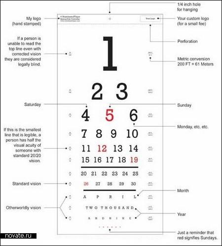 Проверяйте зрение по календарю