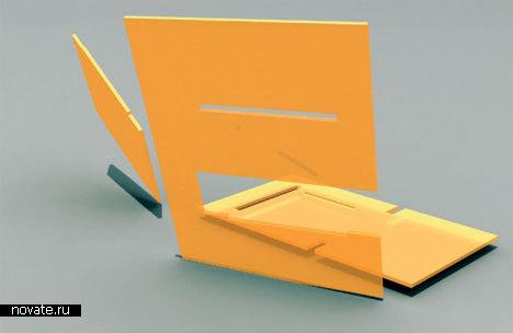 Складной стульчик из трех частей