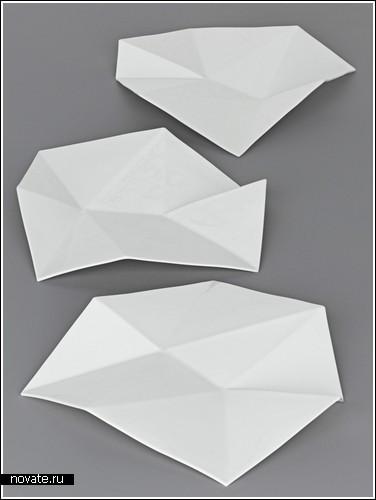 Тарелки с уголками