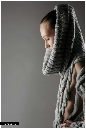Вязание спицами панчо