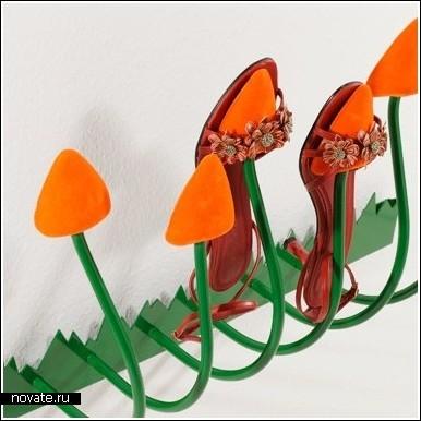 Сойка для обуви в виде тюльпанов