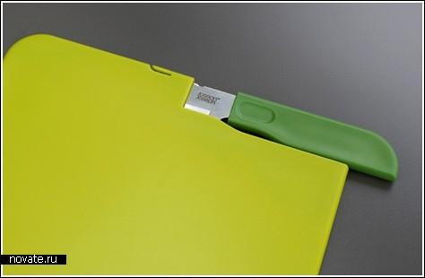 Разделочная доска с кармашком для ножа