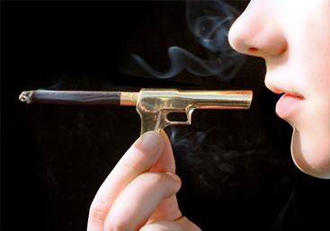 Мундштук в виде пистолета