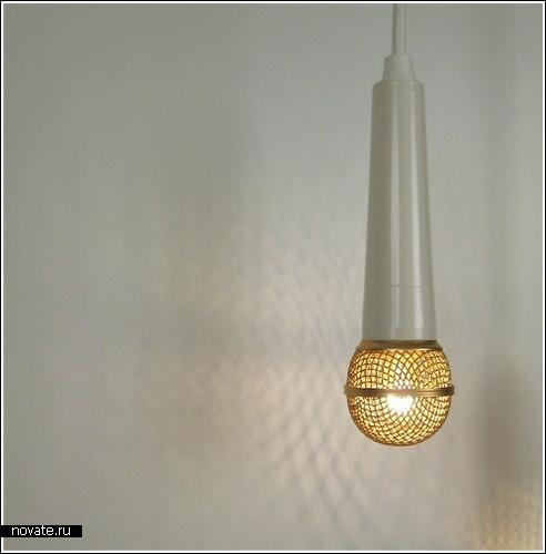 Лампа в виде настоящего микрофона