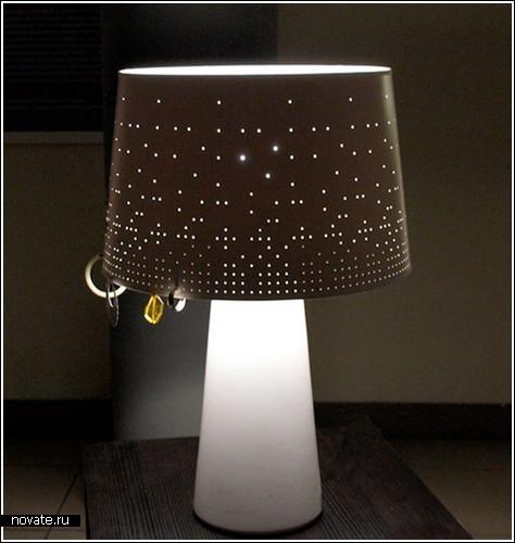Лампа-подставка для сережек