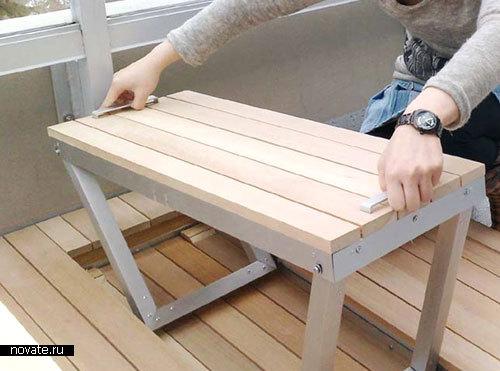 Скамейка в квартиру своими руками