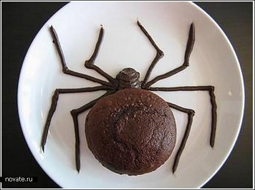 Кексы в виде пауков