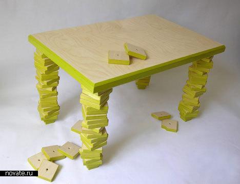 Как сделать столик на ножках