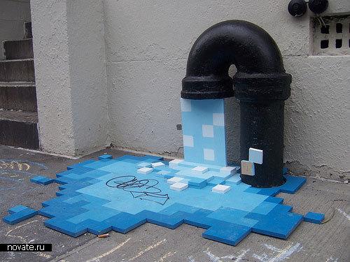 Вода из пикселей в Нью-Йорке
