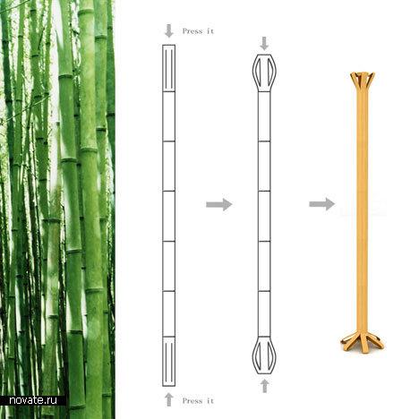 Вешалка-бамбук