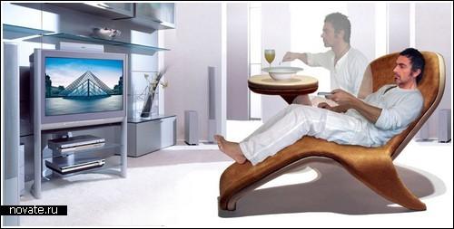 Кресло для посидеть-полежать-поесть