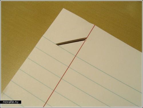 Скрепление листов без степлера