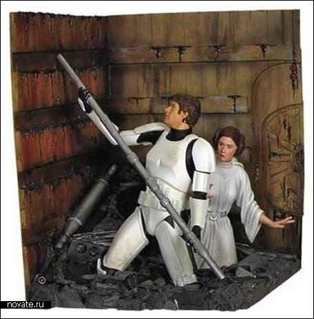 Тематическая полка для фанатов Звездных войн