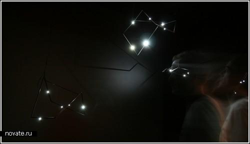 «Звезды» вместо ночников на стене