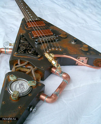 Гитара в стиле стимпанк