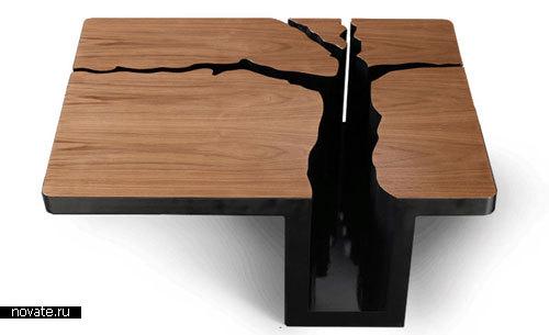 Журнальный столик «Гнилое дерево»