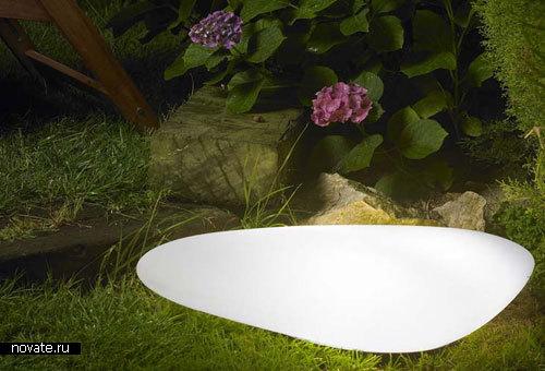 Лампа в форме булыжника