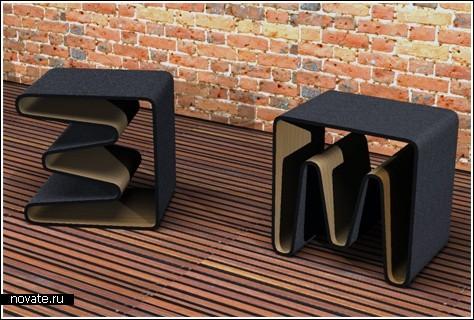Три в одном: стул, стол и полка