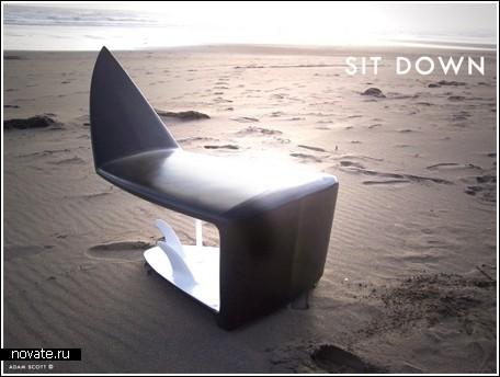 Стул из доски для серфинга