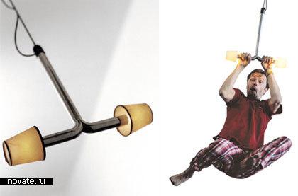 Люстра-«тарзанка» от Thomas Bernstrand