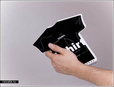 Блокнот-футболка для рисования эскизов
