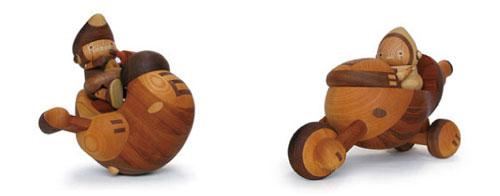 Деревянные роботы от Takeji Nakagawa
