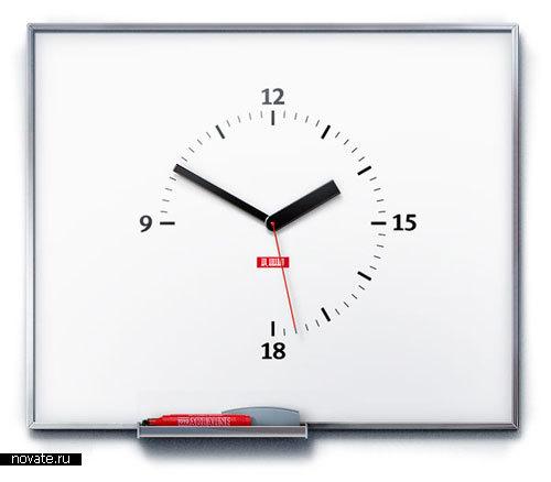 Часы с заметками от Артемия Лебедева