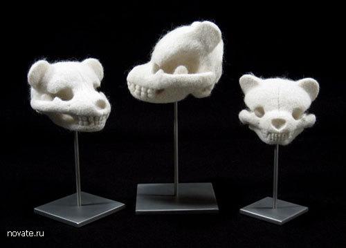 Плюшевые черепа мишек от Stephanie Metz