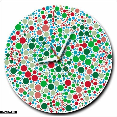 Яркие часы с обманом для зрения