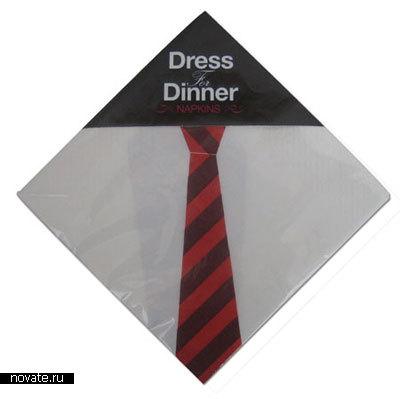 Салфетки с изображением галстука