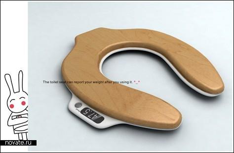 Весы на сидении унитаза