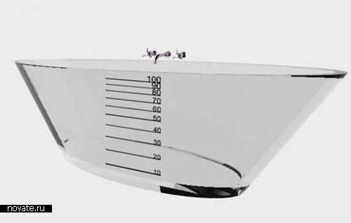 Прозрачная ванна-мензурка