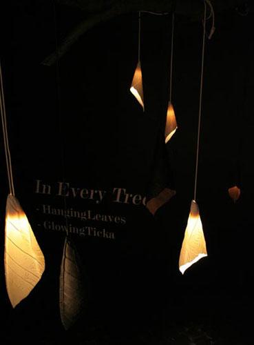 Светильники «Hanging leaves» от Maria Plevik and Maria Larsson